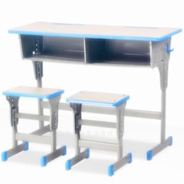学校学生双人单柱课桌椅培训班课桌椅