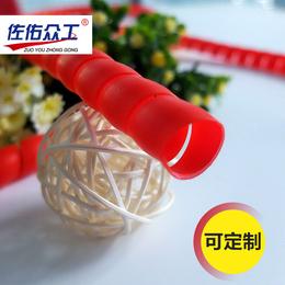 厂家直销 高压耐磨黑色螺旋胶管保护套 液压油管抗老化保护套