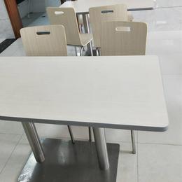简约食堂餐桌椅连体快餐店餐桌缩略图