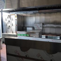 商用食堂三门蒸柜连炉