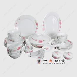 景德镇手绘陶瓷餐具套装 年终礼品餐具批发价格
