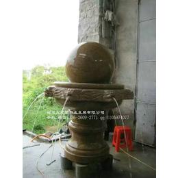 户外花岗岩风水球大型水景喷泉制作招财风水球