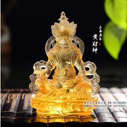 烟台黄财神佛像生产厂家 古法琉璃黄财神佛像佛堂供养