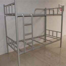 员工双层铁床厂家 员工宿舍双层铁床 员工宿舍铁架床康胜直销