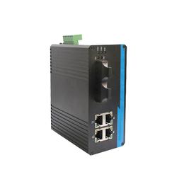 广州汉信-百兆2光4电工业级光纤收发器