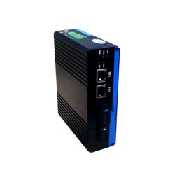 广州汉信-百兆2光1电工业级光纤收发器
