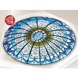 专业生产彩色穹顶玻璃彩绘穹顶玻璃教堂玻璃各类工艺玻璃制品