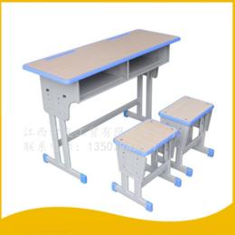 学生课桌椅 双人双柱学校培训课桌升降课桌椅 缩略图