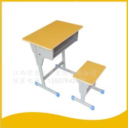 学生学校课桌椅单人单柱课桌升降课桌椅 缩略图