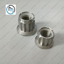 钛合金法兰尼龙锁紧螺母法兰面锁紧螺母批发定制钛螺母