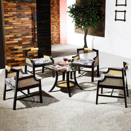 供应厂家直销3015 小藤椅阳台靠背椅会客洽谈咖啡椅牛角椅