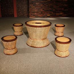供应厂家直销3014 天然真藤椅 印尼进口藤艺编制小圆凳椅子