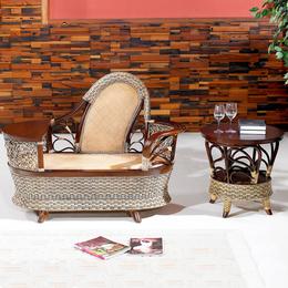 供应厂家直销3010 美式乡村藤编餐椅藤艺椅子