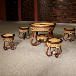 供应厂家直销3009 经典北欧餐椅休闲椅 时尚简约现代藤木椅
