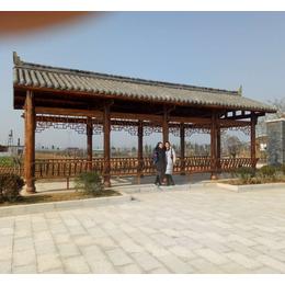 江西  防腐木户外长廊公园长廊