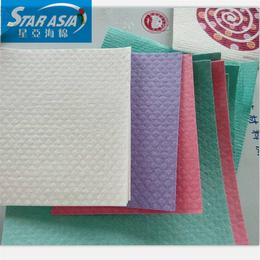 过滤清洁洗碗布  进口抹布去污垢海绵木浆棉格子纹片材