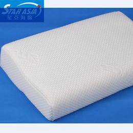记忆海绵枕头 舒适老人专用太空记忆海绵 车内长途弓形枕定做
