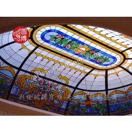 彩色玻璃专业制造商圆博工艺品种全花型丰富价格实惠提供专业定制