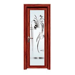 紅酸枝鋁合金平開門  衛生間門