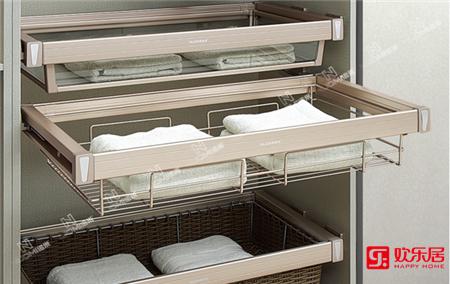 欢乐居整体家居定制材料:紫珑阻尼衣物线篮
