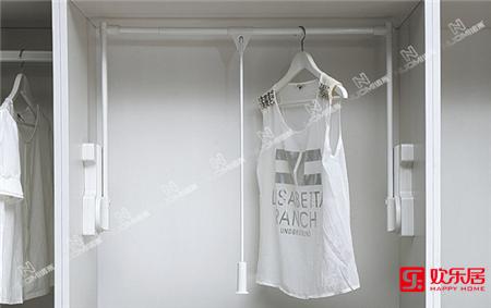 欢乐居整体家居定制材料:阻尼升降挂衣架