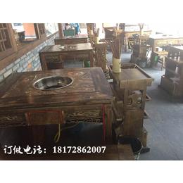 江西火锅桌订制做民族风格餐厅桌椅卡座沙发定做时尚桌子