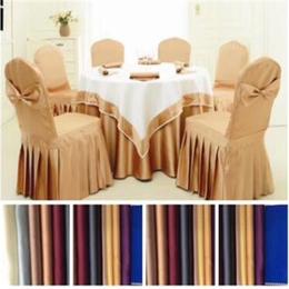 星级酒店台布椅套高档餐厅亮丝双缎面桌布多色可选