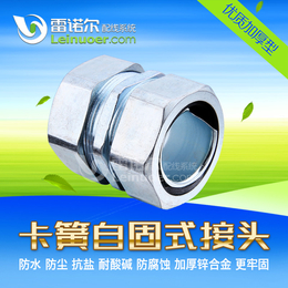 镀锌管接头雷诺尔LNE-DGJ 卡簧自固式接头镀锌钢管接头