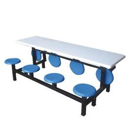 八位玻璃钢翻转圆凳餐桌缩略图