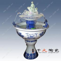 景德镇手绘陶瓷过滤鱼缸批发 家用摆设鱼缸图片