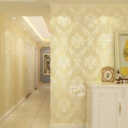现代简约卧室客厅电视背景墙立体浮雕环保3D墙纸