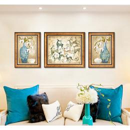 简欧客厅装饰画沙发背景墙美式挂画