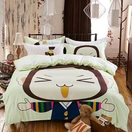 冬季加厚纯棉卡通儿童四件套可爱1.5米1.8m2.0m床单