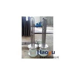 上海昊誉机械供应不锈钢316L导热油法兰加热管 非标订货