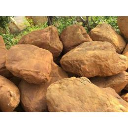 批发园林点缀石 浙江黄腊石 黄腊石假山 黄腊石相片