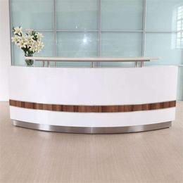 公司简约前台桌 徐州烤漆前台桌