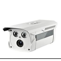 监控摄像头 高清1200线双灯阵列枪 监控摄像机 红外防水日夜监控
