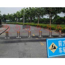 佛山自动升降柱厂家 不锈钢拦车防撞自动升降路桩 电动警示路障