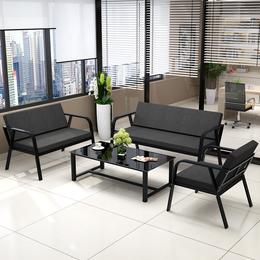 办公沙发简约会客接待商务三人位沙发办公室家具沙发茶几组