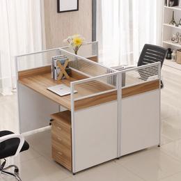 4人位办公桌屏风办公家具双人员工桌椅组合6人位职员桌卡座
