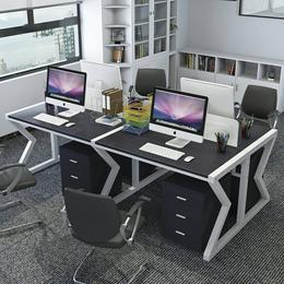 公司办公职员桌多人办公桌椅组合简约现代隔断屏风写字台