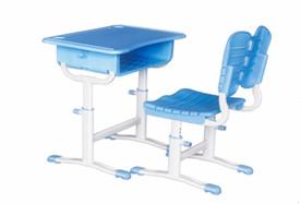 卡扣式手调升降塑料课桌椅