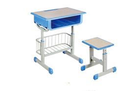 套管升降带蓝课桌凳