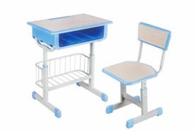 套管升降带蓝课桌椅