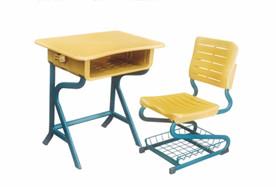 S型固定塑料课桌椅
