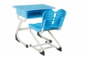 S型固定式塑料课桌椅
