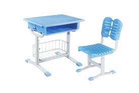 套管式升降带蓝课桌椅