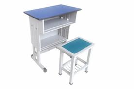 双层双柱方管课桌凳