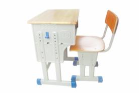 单层双柱橡木板课桌椅