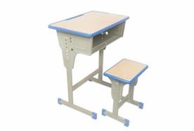 单人单柱单层课桌凳